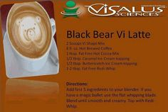 For the coffee lovers out there!  http://cakeshakemix.com/visalus-vi-shape-shake-mix-recipe-black-bear-vi-latte