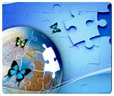 Puzzle Butterfly Globe Rectangle Mouse Pad Mouse Mat 240x200x3mm Thick by iCustom&Shop (81874) Mouse Pads http://www.amazon.com/dp/B00MUMOLUQ/ref=cm_sw_r_pi_dp_pvJEvb05NKT64