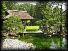 Japanese garden in Kyoto Katsurarikyu 京都・桂離宮