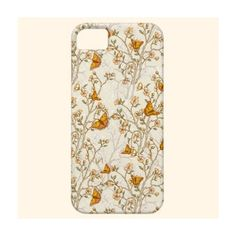 Floral Vintage Pattern with butterflies iPhone 5 Case ($41) ❤ liked on Polyvore