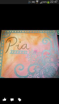 Personalised canvas art