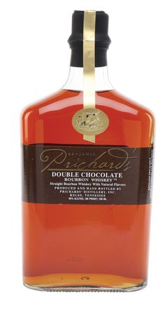 P22 Cezanne font on Prichard's Double #Chocolate #Bourbon.