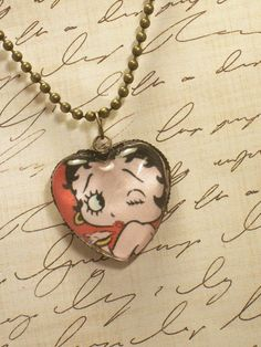 necklace. betty boop.!