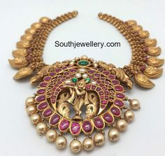 Mango Necklace with Lord Krishna Pendant