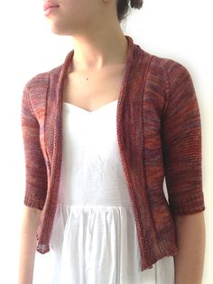 Pink Amber Feather Cardi  Pattern by Hannah Fettig  Yarn Madelinetosh Lace
