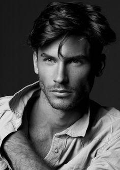 CoverMen Mag: Samuel Trepanier, top male model - Photos o. Male Model Photos, Top Male Models, Male Model Face, Color Splash, Photo Mannequin, Handsome Faces, Handsome Man, Hommes Sexy, Attractive Men