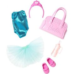 Barbie Club Chelsea Accessory Pack, Ballet-Themed Clothing and Accessories for Small Dolls, 6 Pieces for 3 to 7 Year Olds Include Tutu and Dance Bag Barbie Doll Set, Barbie Sets, Doll Clothes Barbie, Barbie Club, Barbie Chelsea Doll, Barbies Dolls, Barbie Outfits, Accessoires Barbie, Club Chelsea