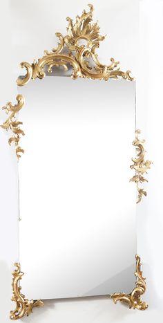 Ornate Mirror, Wood Mirror, French Mirror, Mirror Mirror, Casa Retro, Spiegel Design, Flower Background Wallpaper, Wall Molding, Ceiling Design