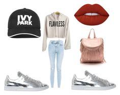 """""""classe"""" by chanelikoli on Polyvore featuring New Look, adidas, Lime Crime and Ivy Park"""