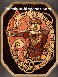 ULLR, an ancient norse, germanic deiety, about whom, due to history and mythology falsification by christian monks, very little is known. http://norse-mythology.org/ullr/ http://www.deviantart.com/art/Ullr-145101095