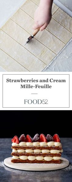 Strawberries and Cream Mille-Feuille --> can I do something so intense? Guess we will see.