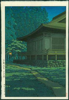 Kawase Hasui - Moonlight at Sanzenin Shrine, Kyoto (1949)