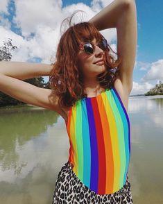 I feel like a 🌈 L👀k by 🌈 Rainbow Swimsuit, Feel Like, Swimsuits, Vegan, Feelings, Youtube, Instagram, Bathing Suits, Swimwear