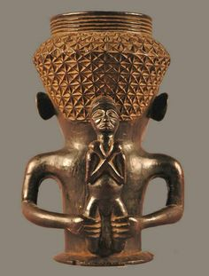 Africa | Palm wine / ceremonial cup from the Kuba people of DR Congo | Wood | 20th century