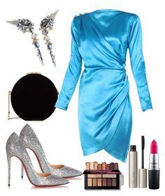 """Haute Couture"" by natalia-souza-ramos on Polyvore featuring Elie Saab, Alexis Bittar, Yves Saint Laurent, Christian Louboutin, MAC Cosmetics and Ilia"