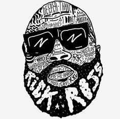 Illustration art hip hop rap Typography rappers Black & White portrait dr dre lauryn hill jay z wu tang 2pac Tupac rick ross shakur nas LL Cool J odb missy elliott nasir jones ice cube nwa calligrammes