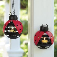 Our Ladybug Hanging Votive Holder is fast becoming one of our most popular Summer accessories! Display it 3 ways - suspend with a chain, hang on the wall as a sconce or place flat on a table. Ladybug Crafts, Ladybug Party, Bougie Partylite, Best Candles, Votive Candles, Votive Holder, Wall Sconces, A Table, Tea Lights