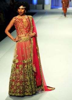 Bold and Beautiful Brides | Adarsh Gill's Collection at Aamby Valley India Bridal Fashion Week, 2013 http://www.fdci.org/Member.aspx?mid=2120588101 | India Today