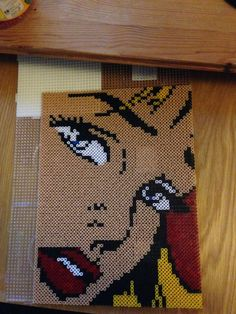 Pop Art Lichtenstein Girl perler bead sprite