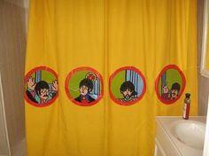 Yellow Submarine. Cortina para banheiro... SHOW