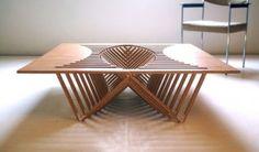 Experimental-Furniture-Kirigami-Inspired-Rising-Table-designed-by-Robert-van-Embricqs-7