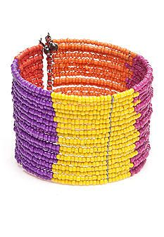 New Directions® Multi Seed Bead Cuff Bracelet #belk #accessories