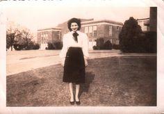 Lady at Meridian High School Mar 3 1948 Meridian MS
