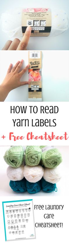 Have trouble reading yarn labels? Don't know what all those symbols mean? Here is your guide on how to read yarn labels, what information you need to look at and what's helpful to know (like where the free patterns are!)