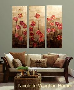 SALE Original 3 Panel Gallery canvas abstract Modern 36