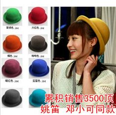 Fashion small fedoras 2013 dome cap woolen hat