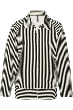 Norma Kamali | Striped stretch-jersey jacket | NET-A-PORTER.COM