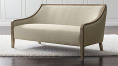 Bryn Settee   Crate and Barrel Nice size and shape, need to find it in the showroom to confirm comfort.