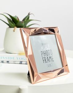 Paperchase   Paperchase Angle Copper Frame 4x4