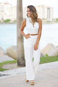 ivory stylish jumpsuit
