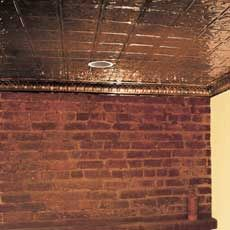 Perhaps a wine cellar with tin ceiling tiles How would the