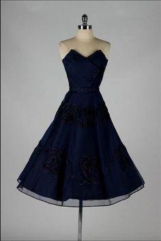 Awesome blue vintage cocktail dress