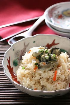 Oysters rice by bananagranola (busy) on Flickr.