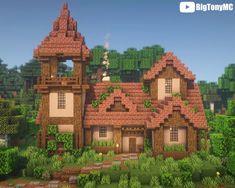 Minecraft House Plans, Minecraft Farm, Easy Minecraft Houses, Minecraft House Tutorials, Minecraft Houses Blueprints, Minecraft House Designs, Minecraft Construction, Minecraft Tutorial, Minecraft Creations