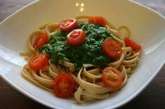 Linguine mit veganem Pesto
