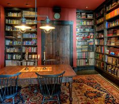Rustic home office and library rolled into one [Design: Dan Nelson - Designs Northwest Architects]