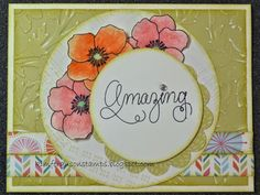 Kim Ferguson's Crafting Blog - Rubber Stamping and Scrapbooking: Spring Themed Card 5 - 2015