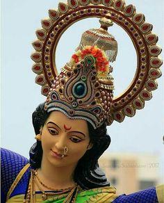 Maa Durga Photo, Durga Maa, Durga Goddess, Happy Independence Day India, Indian Temple Architecture, Mata Rani, Mahakal Shiva, Shri Ganesh, Lion Art