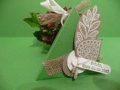 Kleine Geschenkbox,Gastgeschenk,Tischdeko von Schönes aus Stempel und Papier auf DaWanda.com