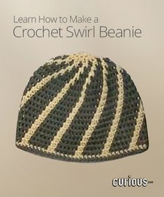 Crochet Swirl Beanie :: WARNING: OBNOXIOUS, LOUD AUTOPLAY VIDEO