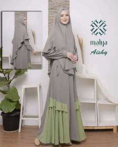 Gamis - Another! Street Hijab Fashion, Abaya Fashion, Modest Fashion, Fashion Dresses, Muslim Women Fashion, Islamic Fashion, Moslem Fashion, Hijab Style Dress, Hijab Fashion Inspiration