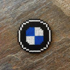 BMW logo hama beads by dearrobinshop Bmw Logo, Auto Logo, Plastic Bead Crafts, Plastic Beads, Hama Beads Patterns, Beading Patterns, Pearler Beads, Party Bags, Helmet