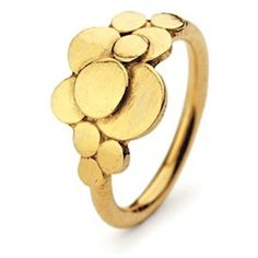 PERNILLE CORYDON Multi Coin Ring - Gold (405 DKK) ❤ liked on Polyvore featuring jewelry, rings, gold, gold jewelry, circle ring, gold rings, yellow gold jewelry and adjustable rings