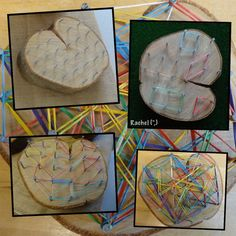 """Natural geoboard and loom bands from Rachel ("""",)"""