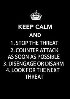 Keep Calm and follow these four great self-defense tips!