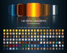 140 Illustrator Metal Gradients by TrabzonSport.deviantart.com on @deviantART
